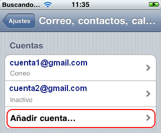 Configurar email en iPhone