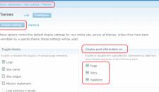 No mostrar fecha y autor en post de Drupal