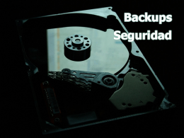 Backups y Seguridad